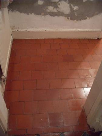 Quarry Tiled Floor During