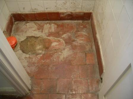 Quarry Tiled Floor Before