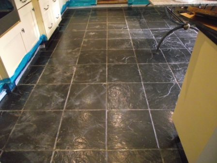 Slate Floor Before