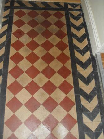 Victorian Tiled Hallway Before