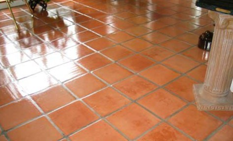Terracotta Floor Maintained in Whipsnade