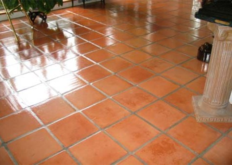 Terracotta Floor Whipsnade After Cleaning and Sealing