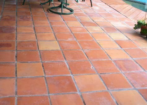 Terracotta Floor Whipsnade Before Cleaning