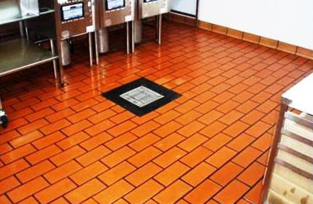 Takeaway Kitchen Quarry Tiles Cleaned Near Hockliffe