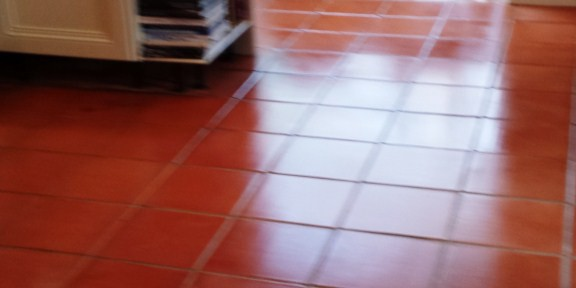 Deep Cleaning and Sealing and Old Terracotta Floor in Toddington