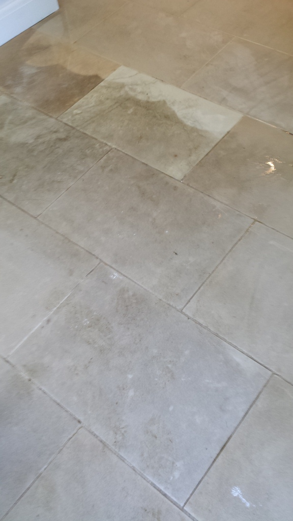 Limestone Bedford Olney before cleaning