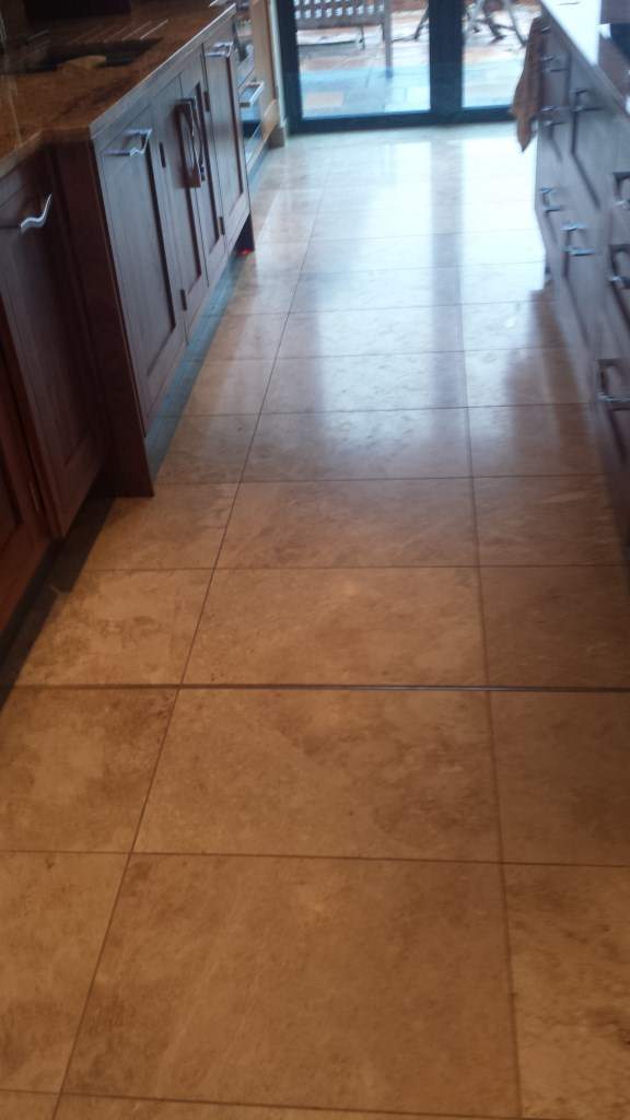 Scratched Marble Floor Olney Before