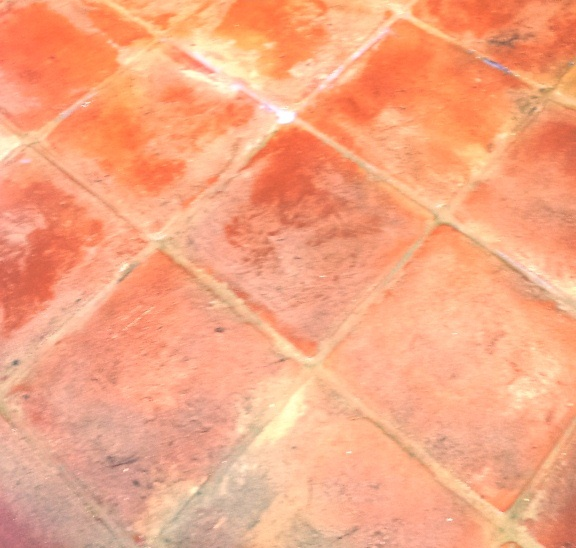 Terracotta Tiles in Wing After Cleaning