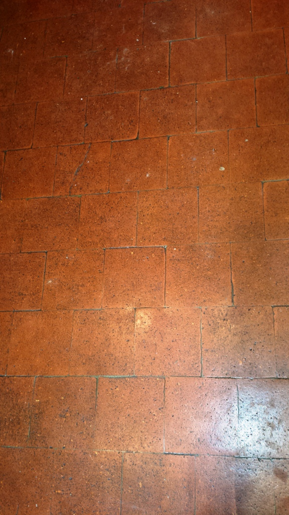 Quarry Tiles in Hitchen Before Cleaning