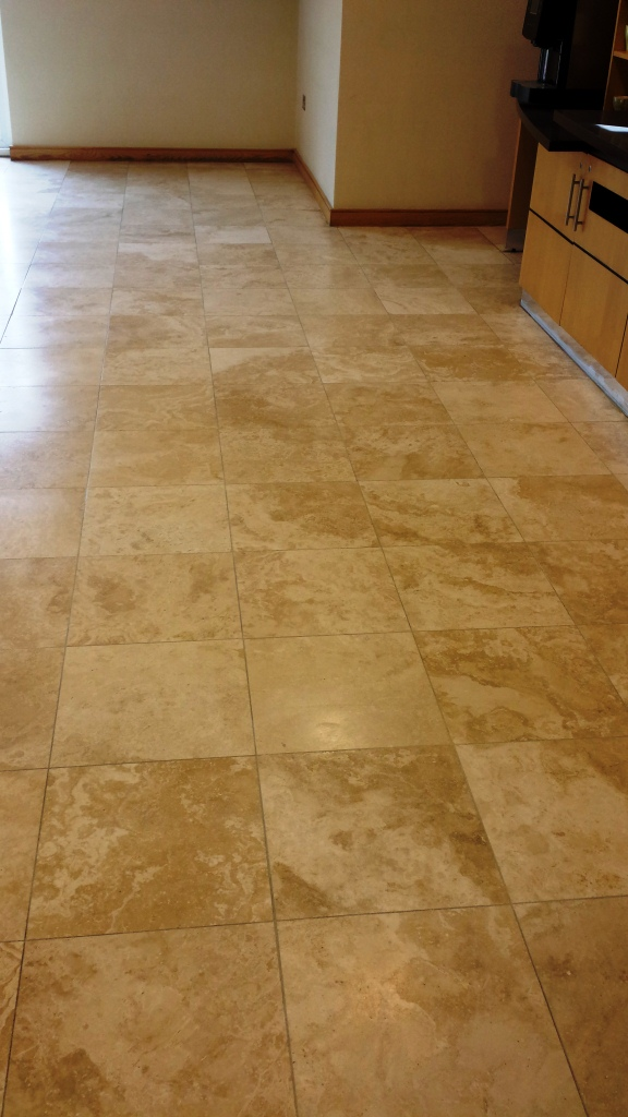 Travertine Tiles After Cleaning at Cranfield University