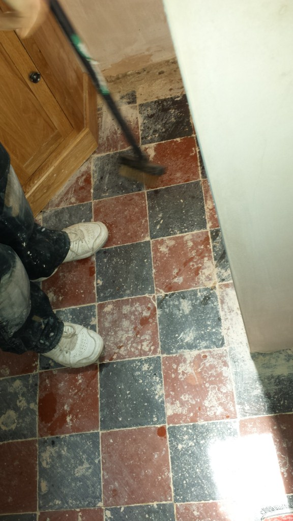 Deep Cleaning Quarry Tiles in Bedford Before