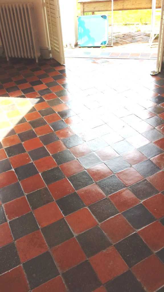 Victorian Quarry Tiles Bedford after cleaning and sealing