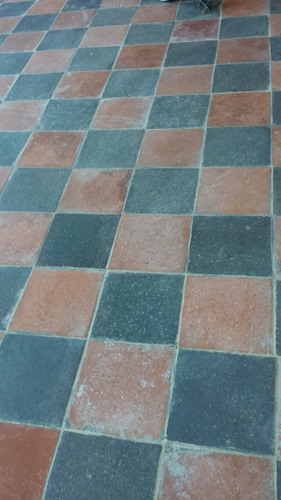Victorian Quarry Tiles Bedford before cleaning
