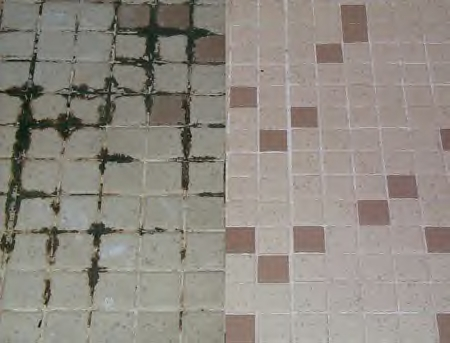 Mosaic Shower Tile Refresh in Bedford Before and After