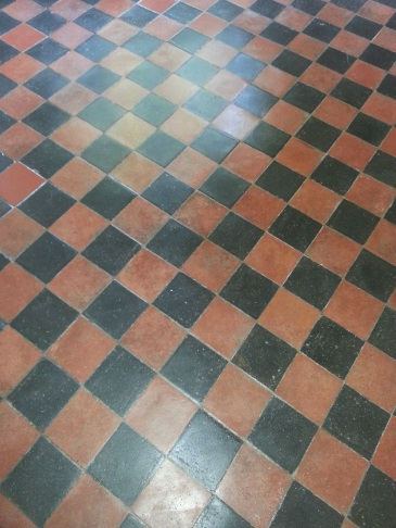 Victorian Tiled Floor After Deep Cleaning in Sharnbrook