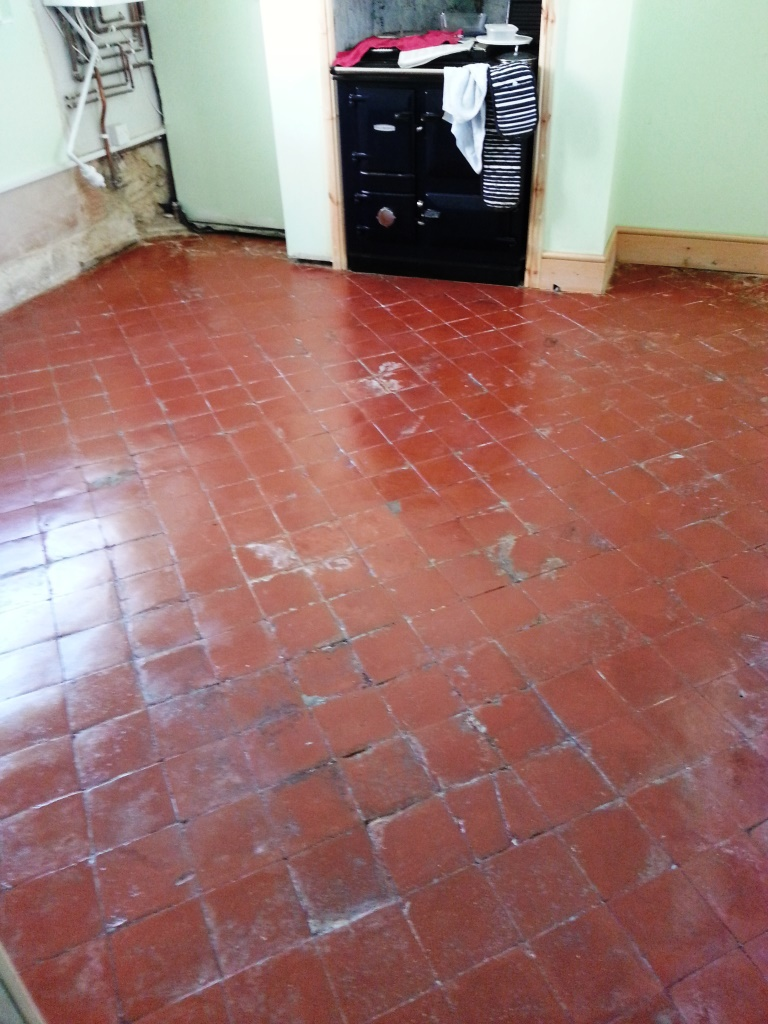 Quarry Tiles After Restoration in Langford