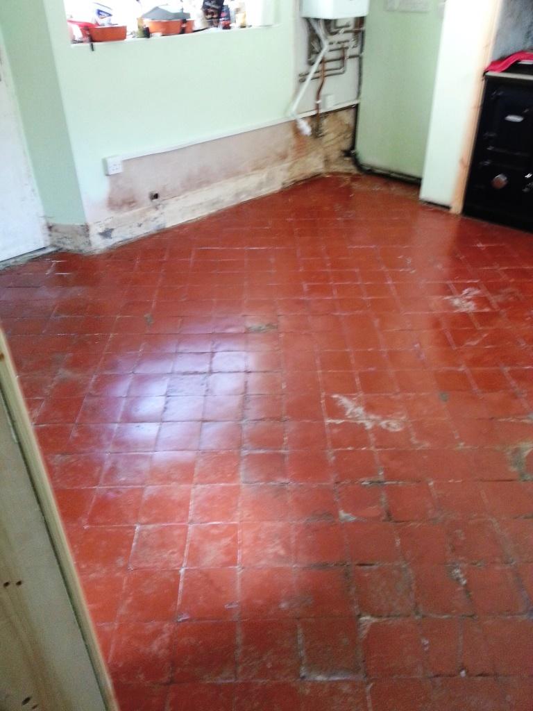 Quarry Tiles After Restoration in Langford