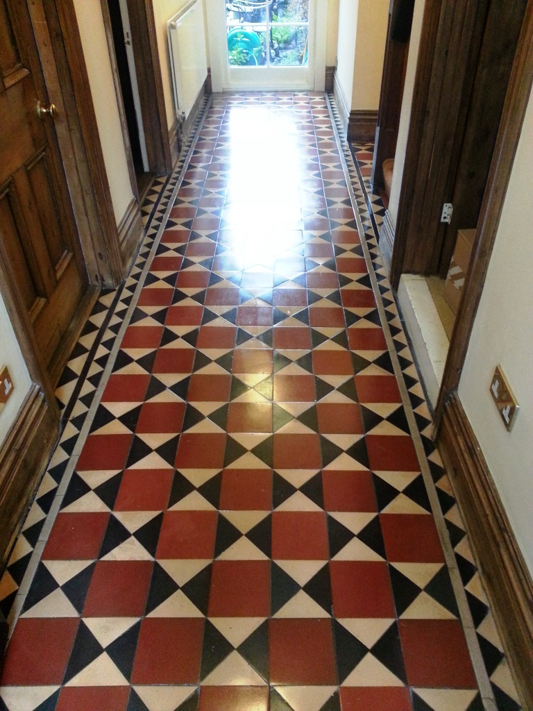 Victorian Tiles after Cleaning in Bedford