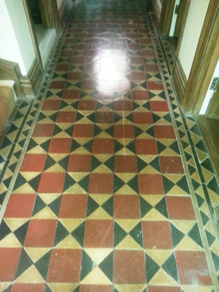 Victorian Tiles before Cleaning in Bedford