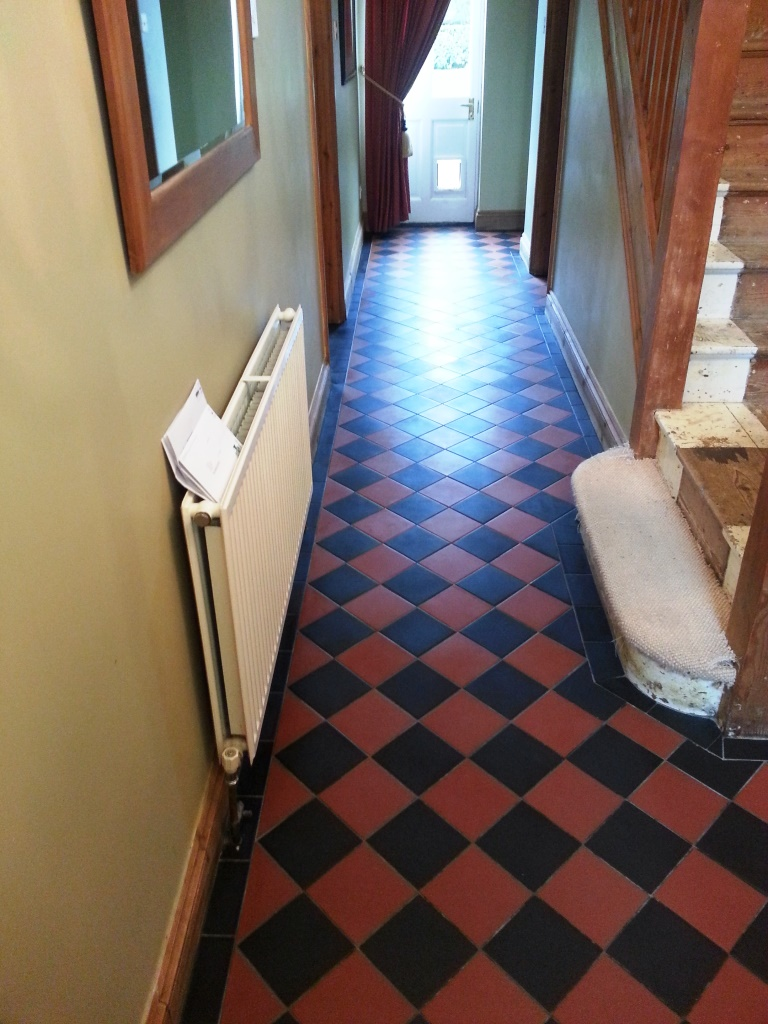 Victorian tiles Biggleswade after cleaning