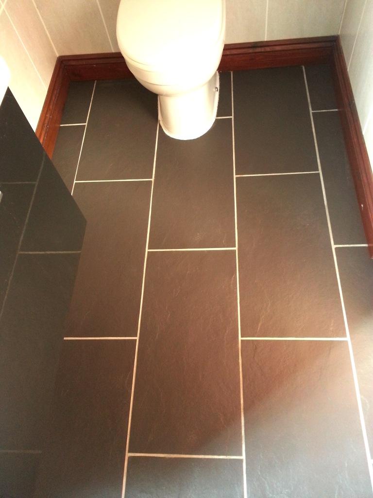 Limescale Treated on Slate Bathroom Tiles Ravenden After