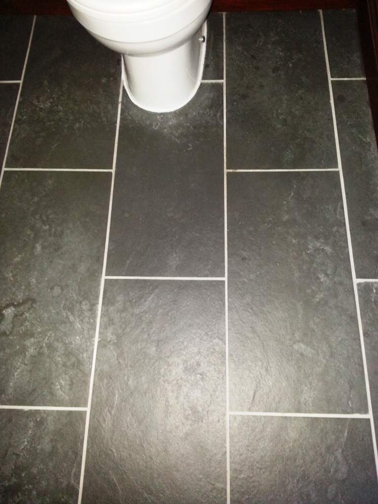 Dealing with limescale stains on a slate tiled bathroom in limescale treated on slate bathroom tiles ravenden before dailygadgetfo Choice Image