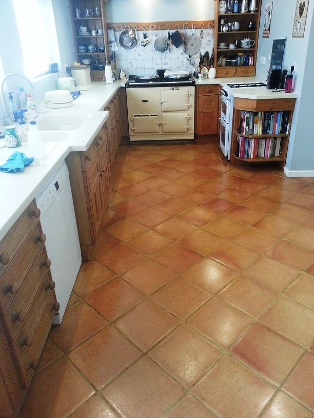 Terracotta Floor After Maintained Ampthill