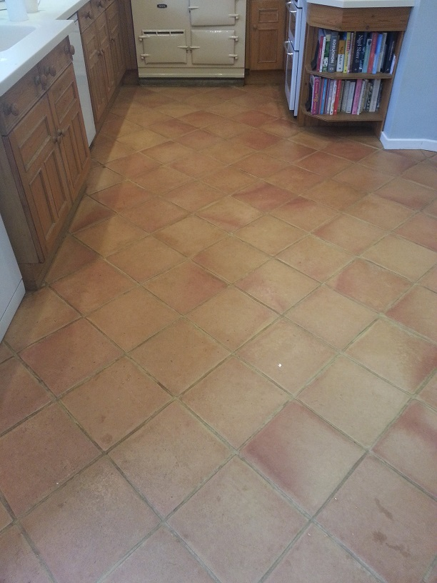 Terracotta Floor Before Maintained Ampthill