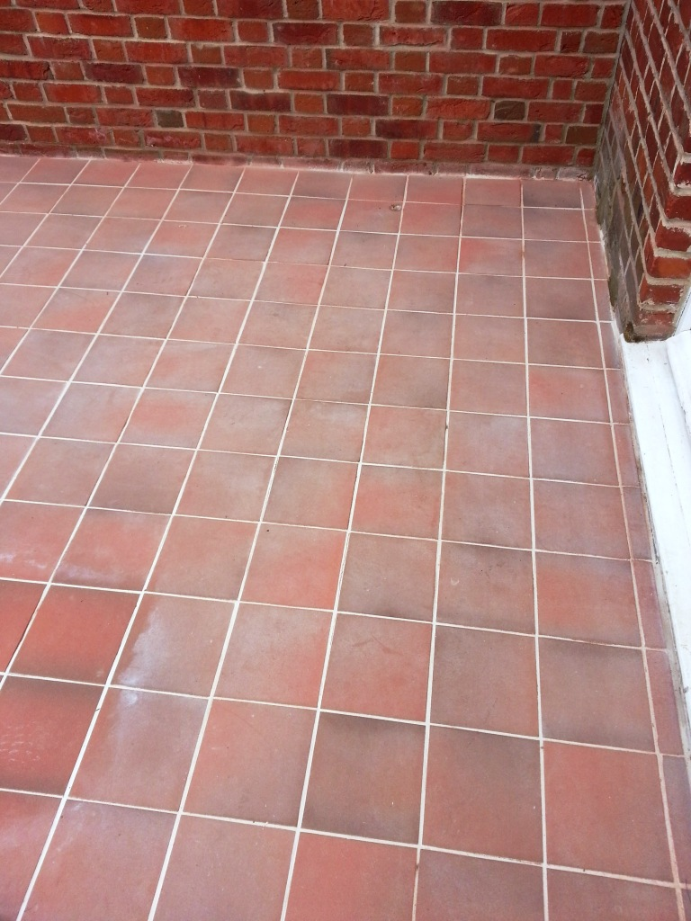 Removing Grout Haze from Quarry Tiles Dunstable