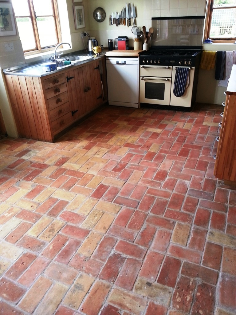 Brick Flooring In Kitchen Unique Brick Kitchen Floor Restored In Wrestlingworth