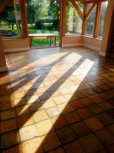 Victorian Brick Floor Tiles-After Restoration in Colmworth
