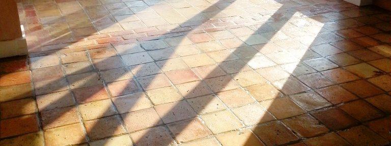 Victorian Brick floor tile restoration in Colmworth