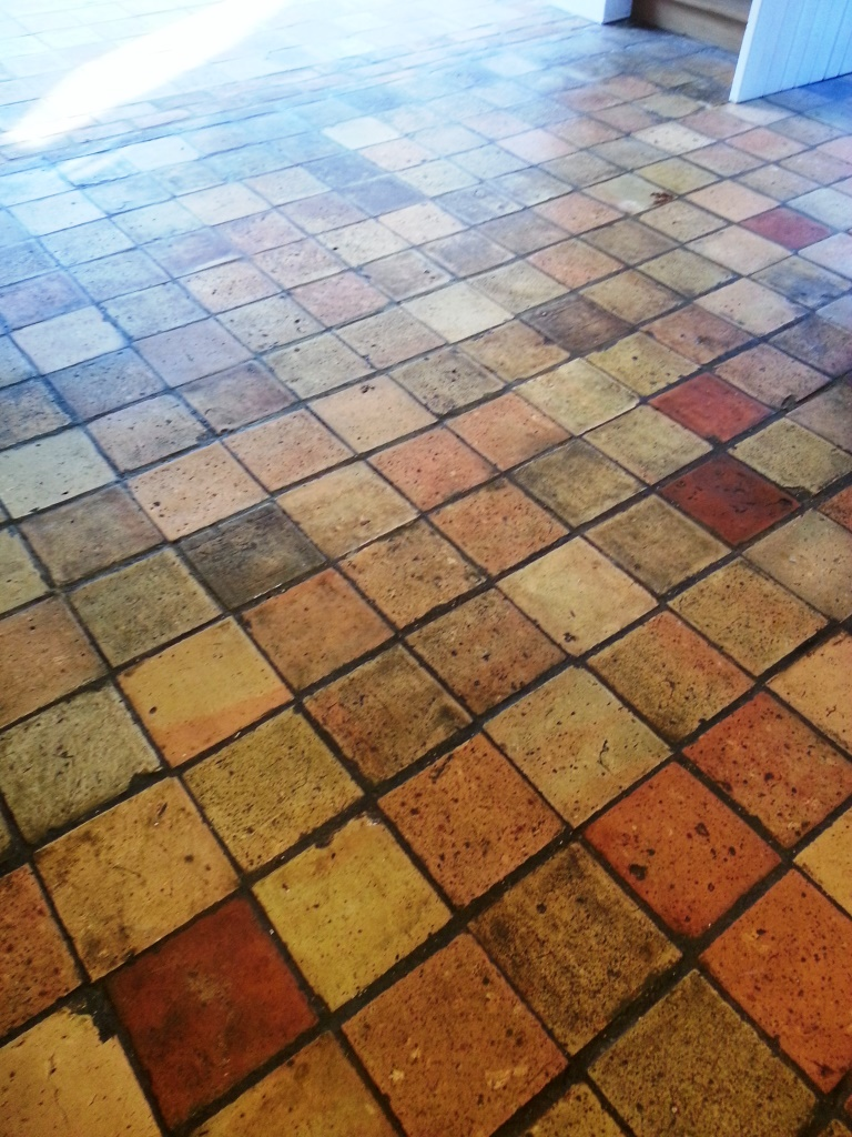 Efflorescence bedfordshire tile doctor victorian brick floor tiles before restoration in colmworth doublecrazyfo Gallery