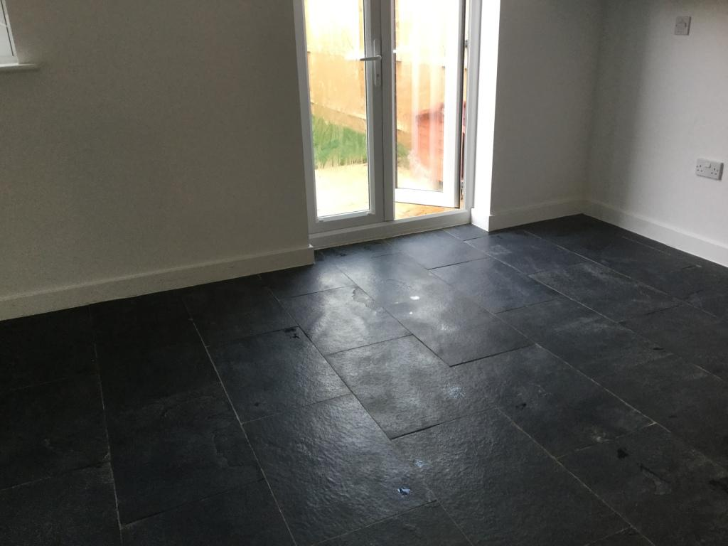 Dealing With Grout Haze On A New Black Limestone Floor In