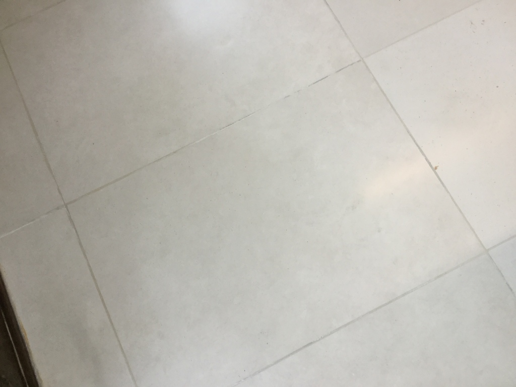 Polished Limestone Office Floor After Refinishing in Maulden Closeup