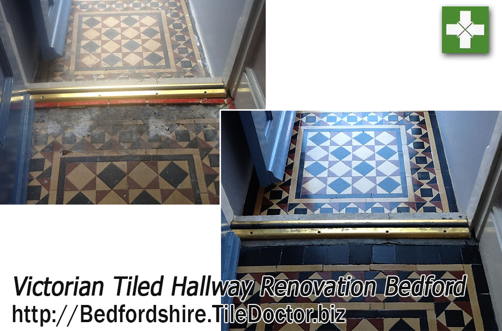 Renovating Dull and Dirty Victorian Hallway Tiles in Bedford