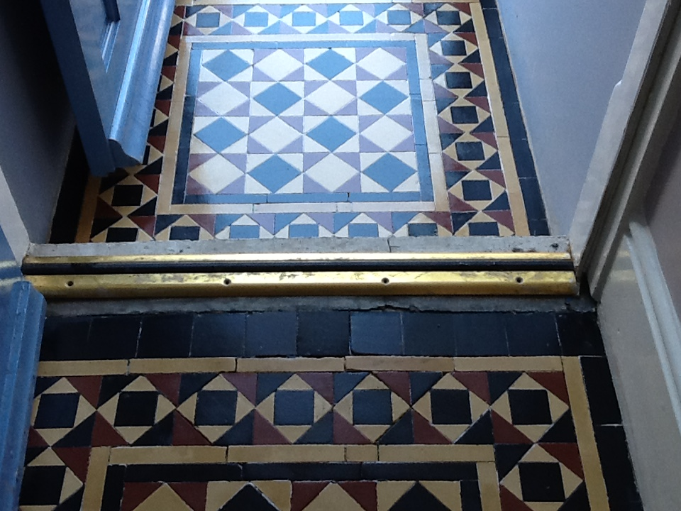 Victorian tiled floor After Cleaning Bedford