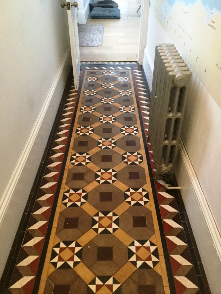 Victorian Tiled Floor After Cleaning The Embankment Bedford