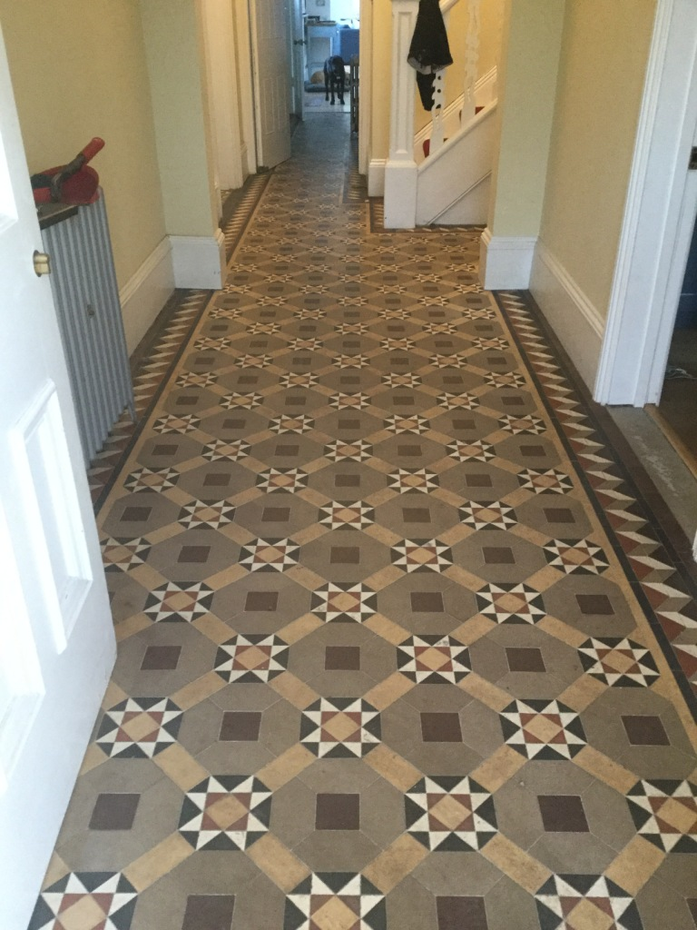 Victorian Tiled Floor Before Cleaning The Embankment Bedford