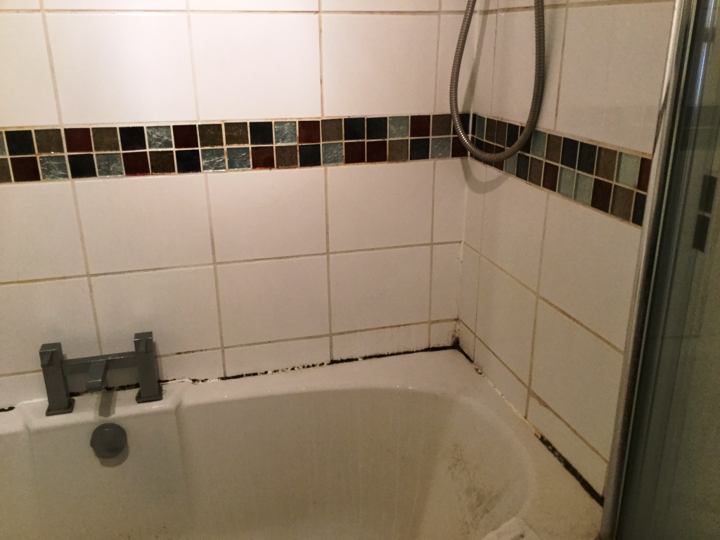 Ceramic Tiled Bathroom Before Cleaning Bedford Town Centre