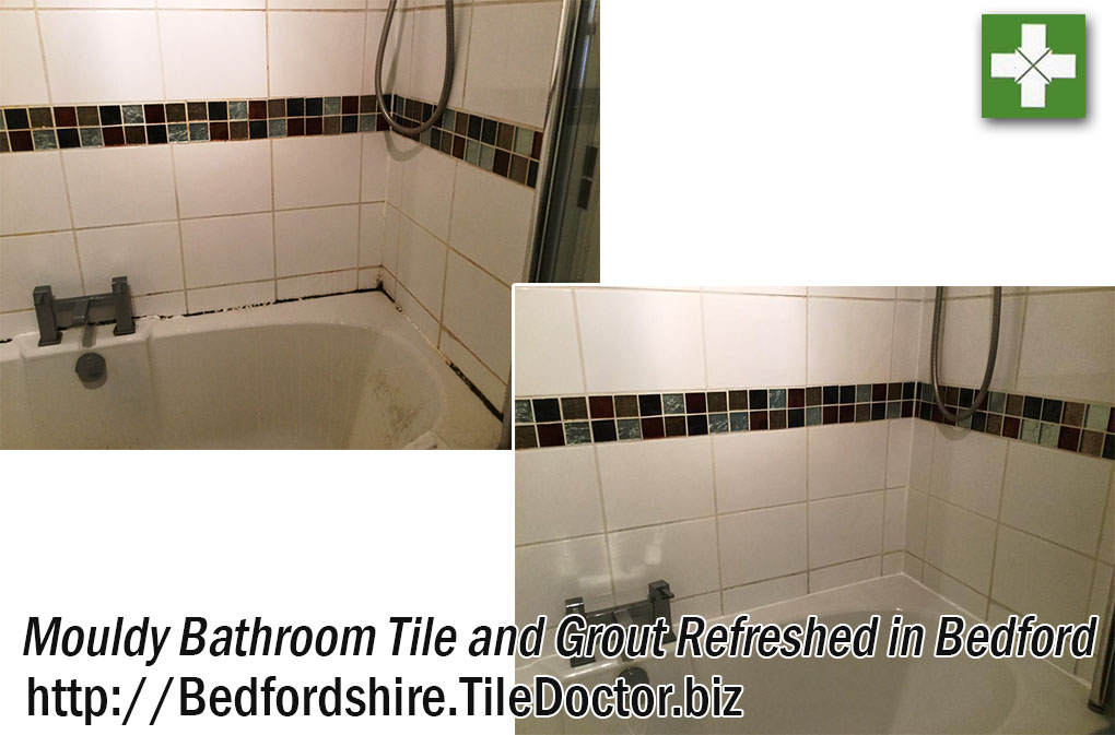 Mouldy Ceramic Bathroom Tiles Before and After Refresh Bedford