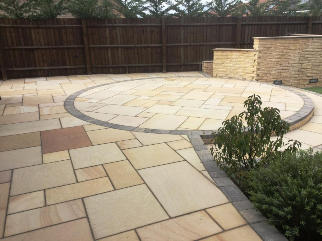 Sandstone Patio Bedford After Cleaning