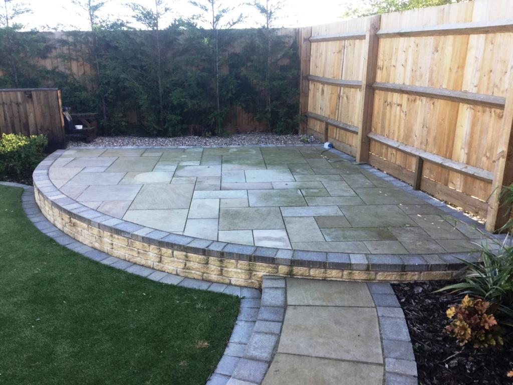 Sandstone Patio Bedford Before Cleaning