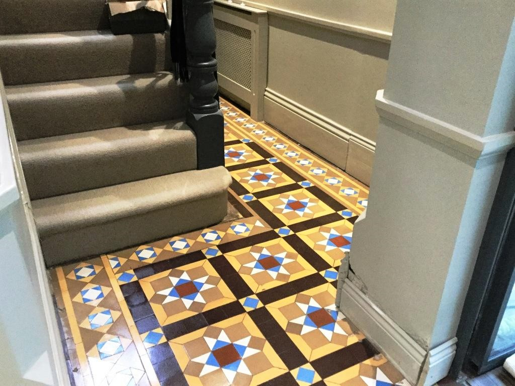 Victorian Tiled Floor Leighton Buzzard After Cleaning