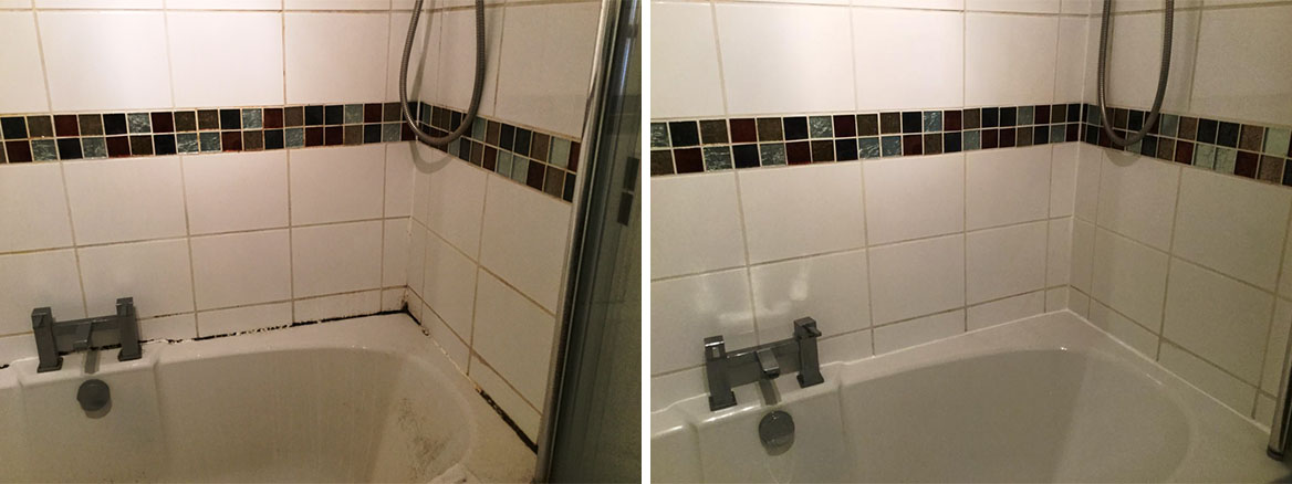 Ceramic Tiled Bathroom Before After Cleaning Bedford Town Centre