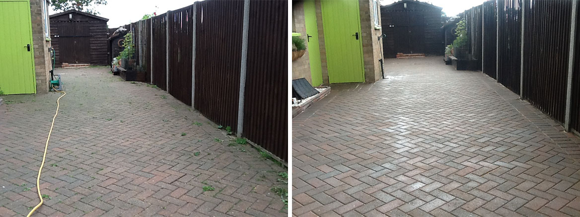 Driveway Before After Cleaning Pertenhall