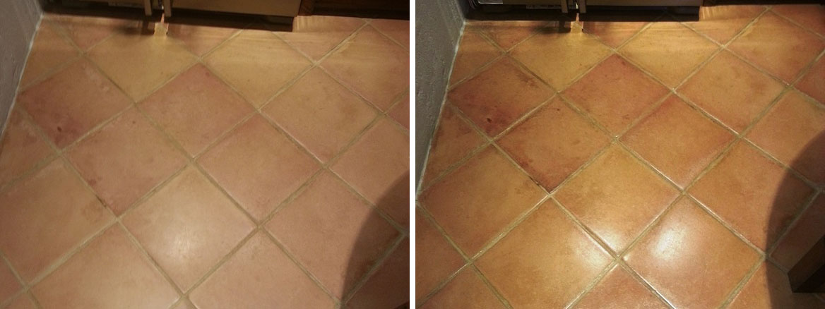 Terracotta Floor Before After Maintained Ampthill
