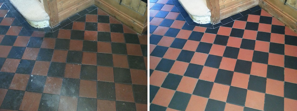 Vioctorian tiles Biggleswade before after cleaning